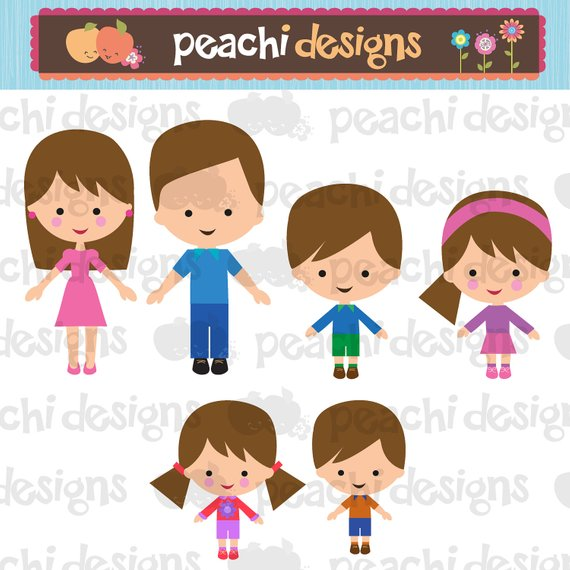 Family Characters Clipart Set.