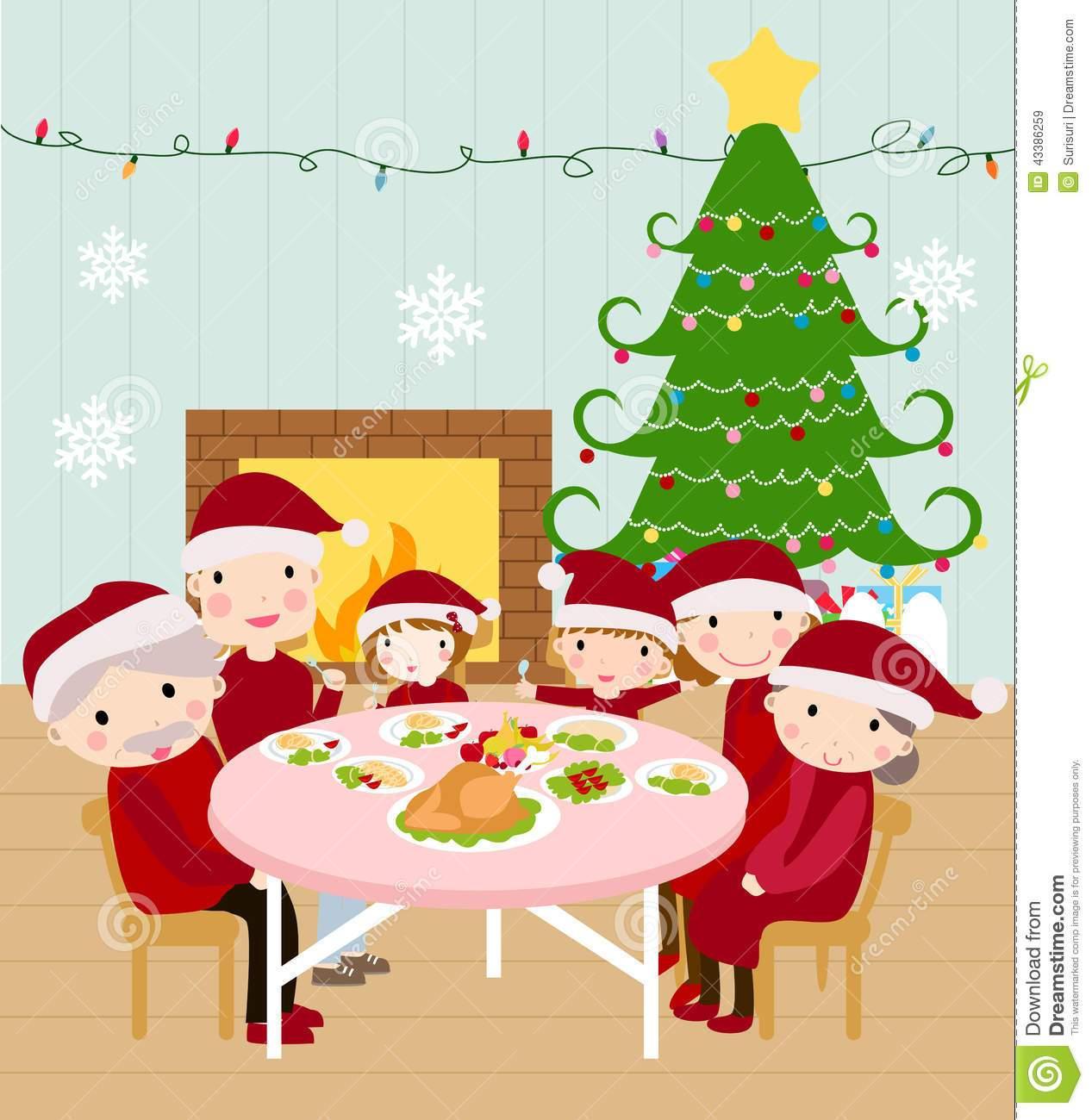 Family christmas dinner clipart 9 » Clipart Portal.