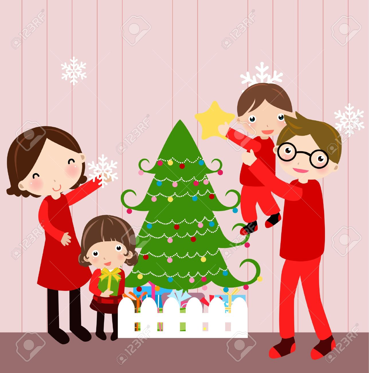 Christmas Family Clipart.