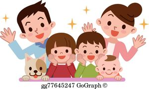 Happy Family Clip Art.