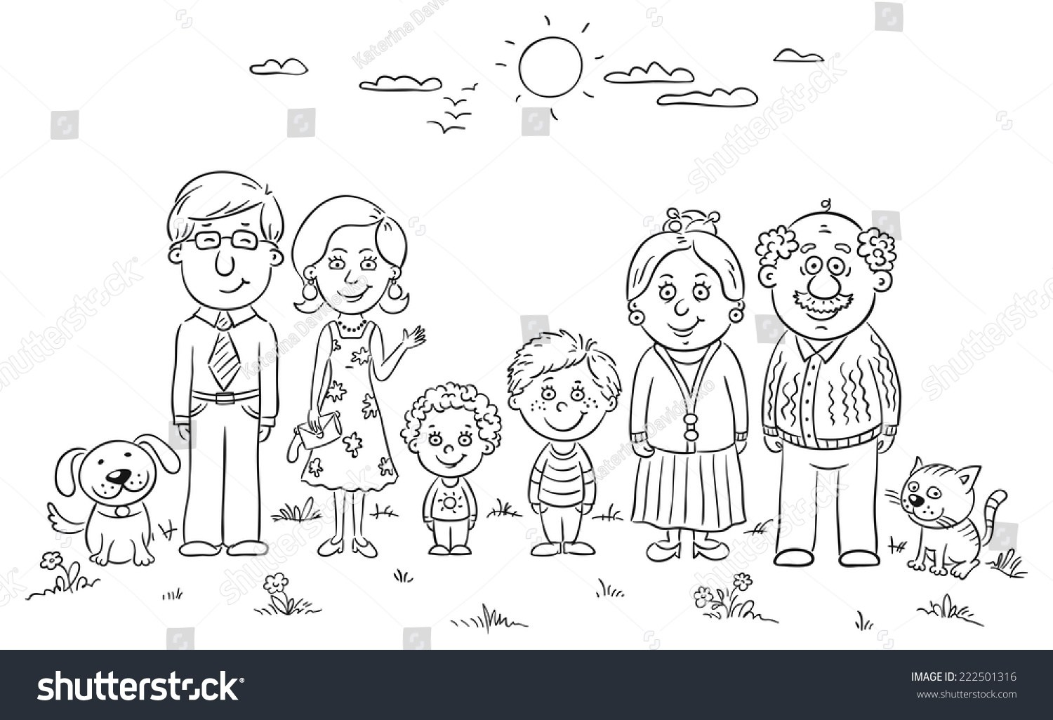 Big family clipart black and white 5 » Clipart Portal.