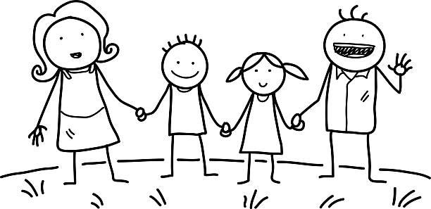 Best Stick Figure Family Illustrations, Royalty.