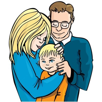 Family Clip Art Black And White.