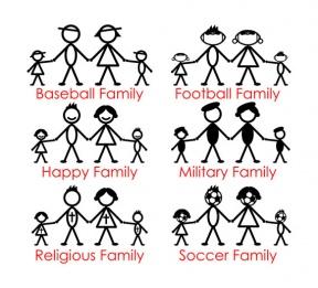 Family Clipart 3 Boys 1 Girl.