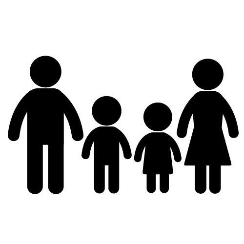 Best Family Clipart Black and White #28391.