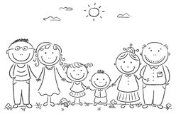 Happy family clipart black and white » Clipart Station.