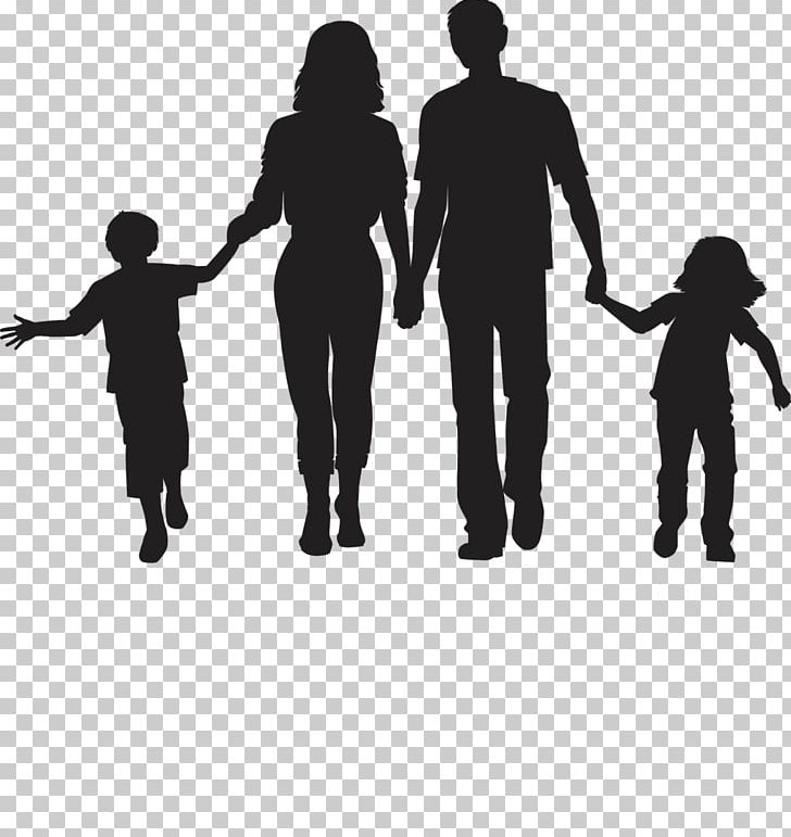 Silhouette Family PNG, Clipart, Animals, Art, Black And White, Child.