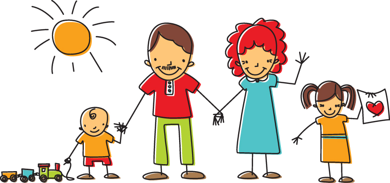 Showing post & media for Family clip art cartoon.