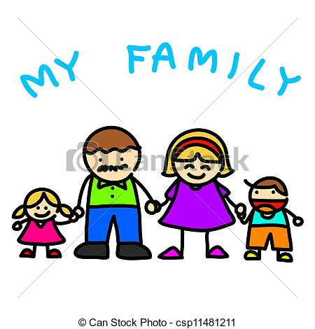 Showing post & media for Cartoon family clip art.