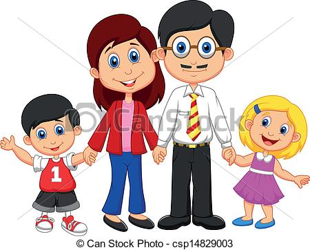 Clipart Of Happy Family.