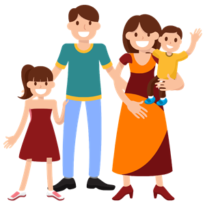 Very Happy Smiling Family clipart, cliparts of Very Happy Smiling.