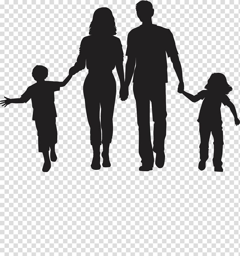 Family , Silhouette Family , family day transparent.