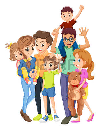 Family Of 6 Clipart.