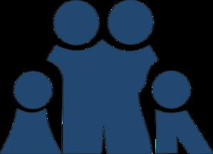 Slate Blue Family Clip art.
