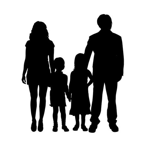 95,914 Family Silhouette Stock Vector Illustration And Royalty Free.