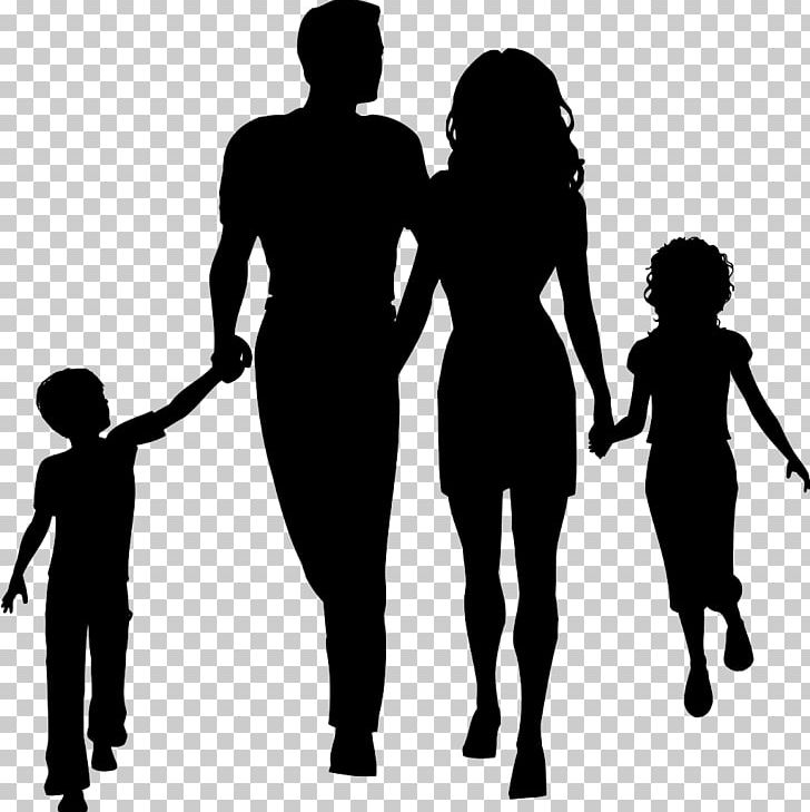 Family Silhouette PNG, Clipart, Black And White, Cartoon, Child.