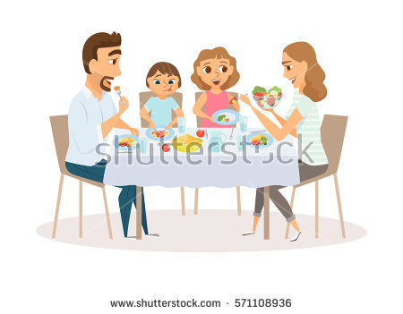 Family Eating Stock Images, Royalty.