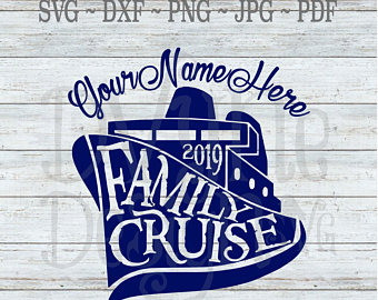 Family cruise svg.