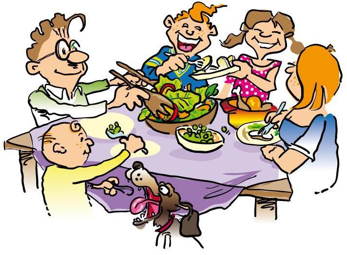 Family Dinner Clip Art Free free image.