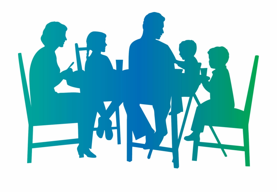 Family Dinner Table Silhouette Free PNG Images & Clipart Download.