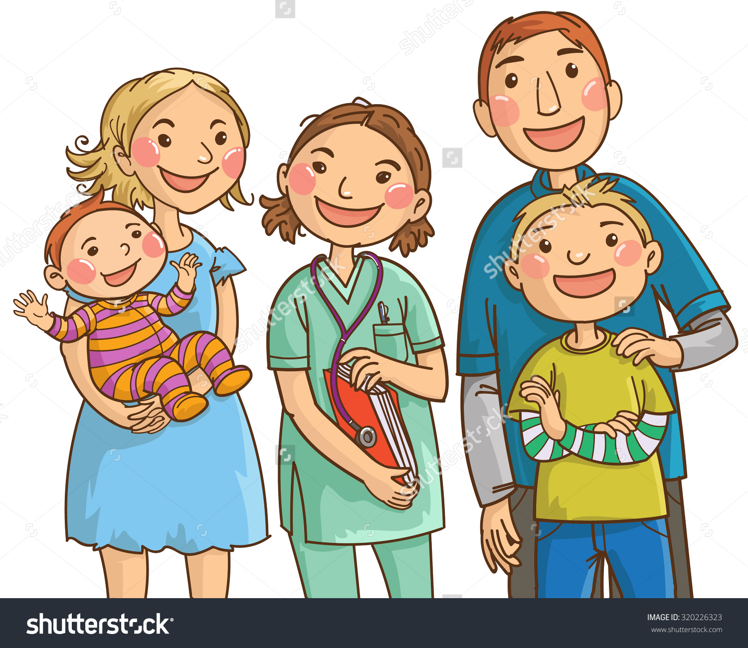 Family doctor clipart.