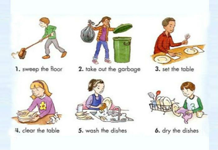 Tips to involve kids in household chores.