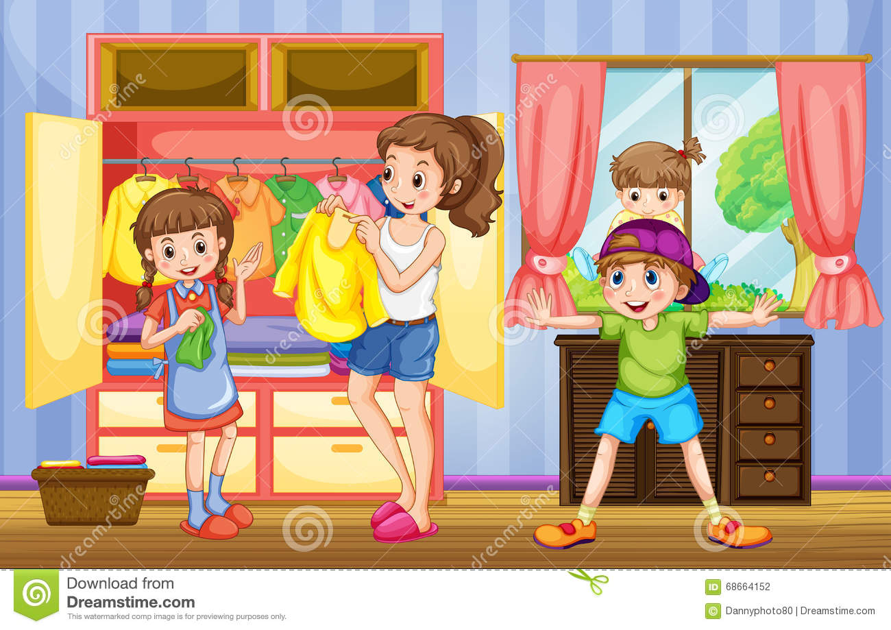 Family Chores Royalty Free Stock Image.