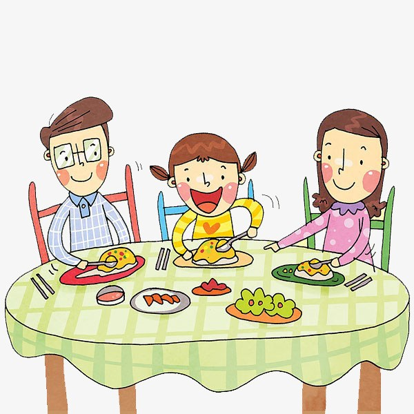 Clipart family eating 4 » Clipart Portal.