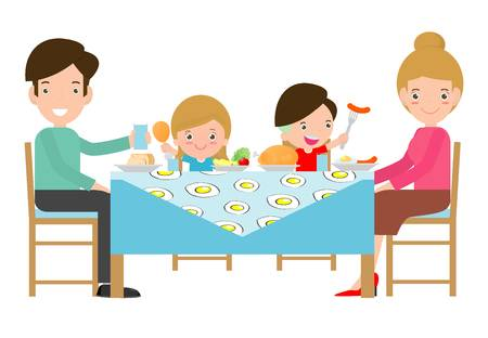 1,208 Family Eating Together Cliparts, Stock Vector And Royalty Free.