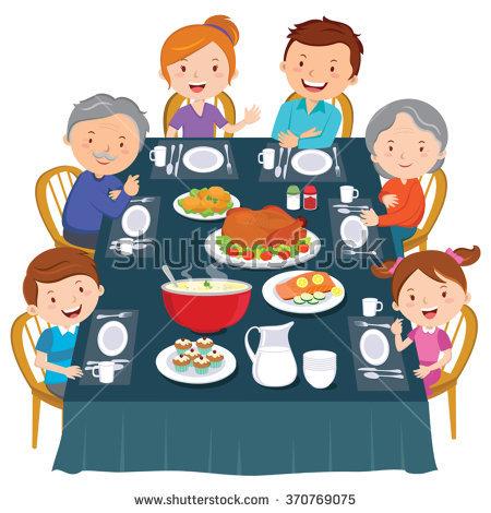 Family eating dinner clipart 3 » Clipart Station.