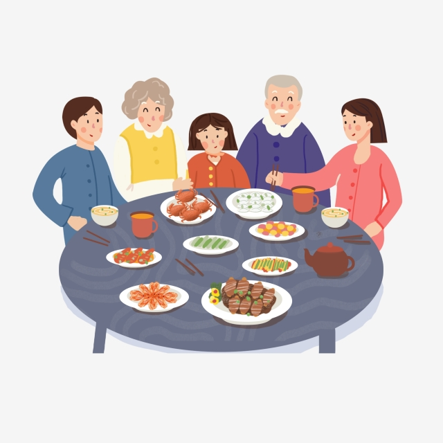 Family Dinner Png, Vector, PSD, and Clipart With Transparent.