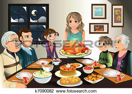 Family dinner Clipart Vector Graphics. 2,288 family dinner EPS.