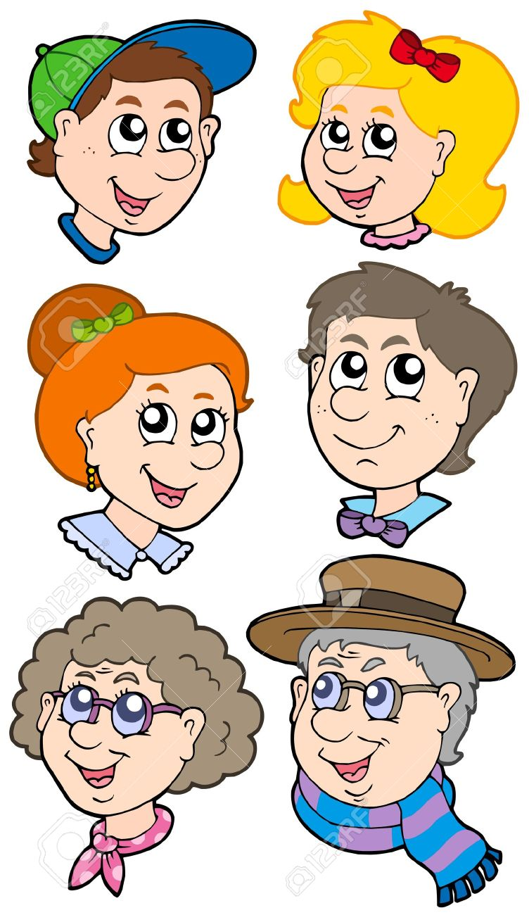 Family Clipart Faces.
