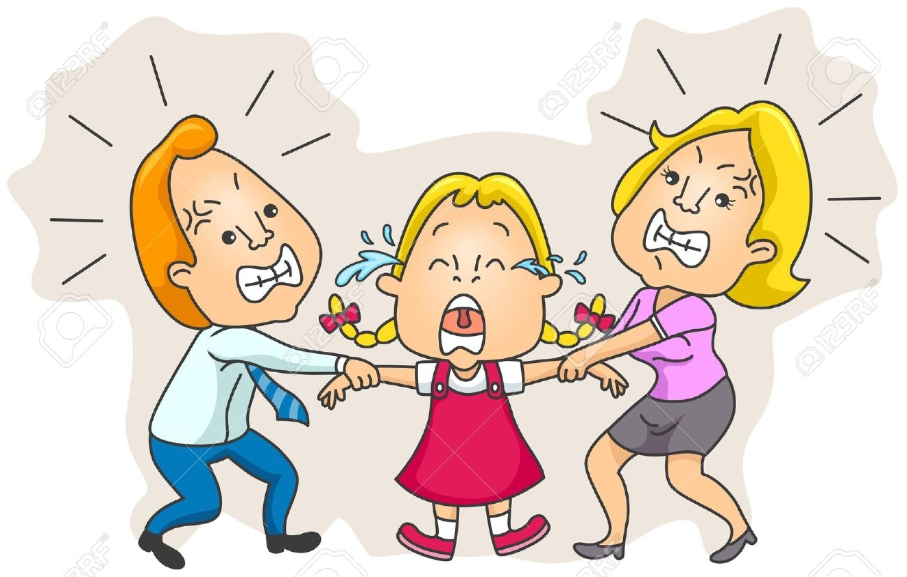 Fighting Family Clipart.