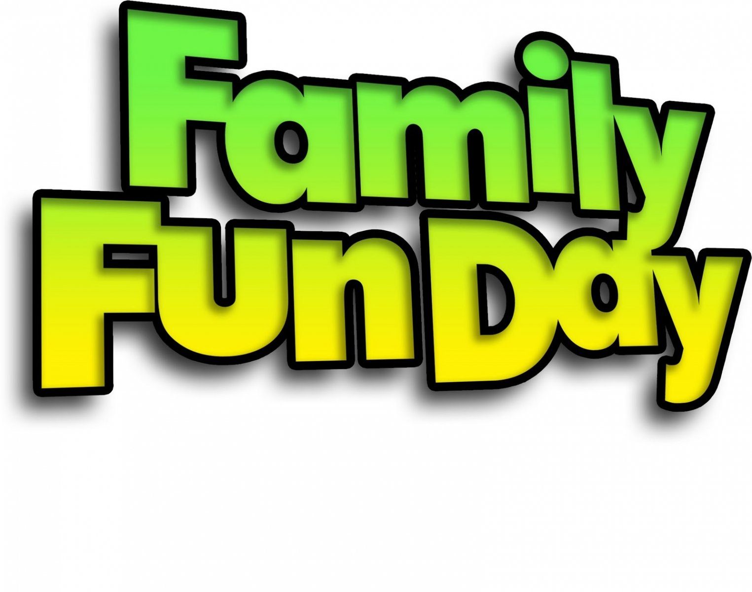 Family Fun Day Clipart.