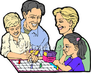 Family Fun And Games Clipart.