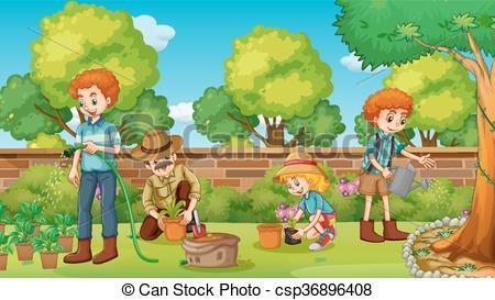 Family gardening clipart 2 » Clipart Portal.