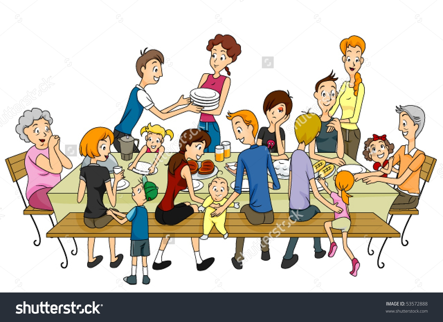 Collection of 14 free Reunion clipart family gathering aztec clipart.
