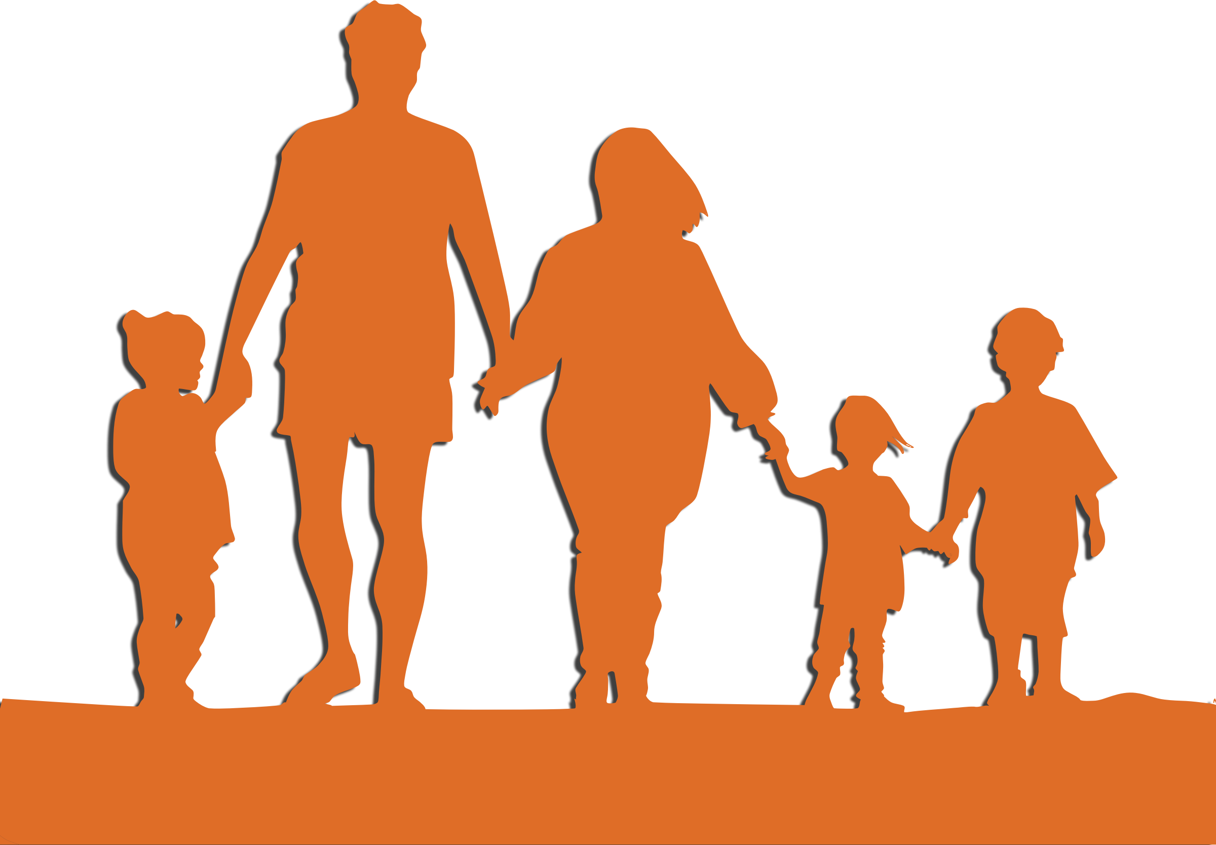 Family Holding hands Child Clip art.
