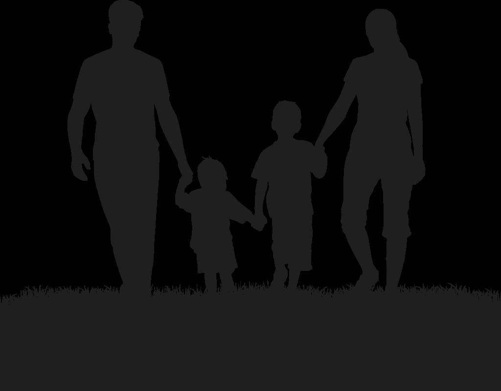 Silhouette Family Divorce.