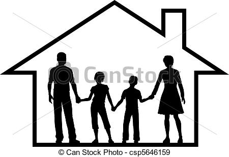 Family house Illustrations and Clipart. 18,100 Family house.
