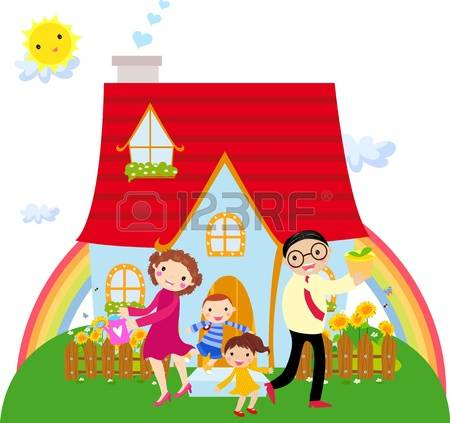 5,725 Happy Family House Stock Illustrations, Cliparts And Royalty.