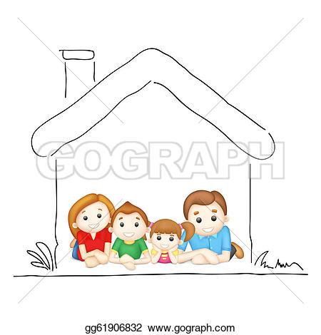 Family Home Clip Art.