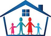 Family House Clip Art.