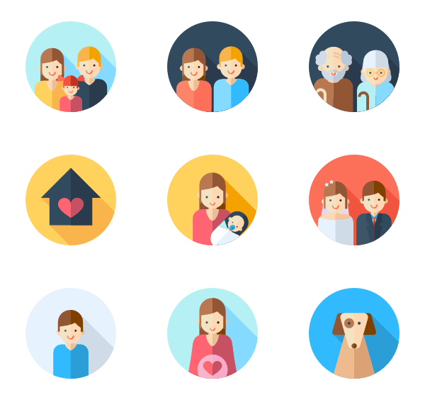 138 family icon packs.