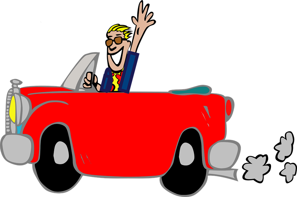 Man Sitting In Car Clipart Transparent.