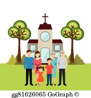 Clip Art Family Church.