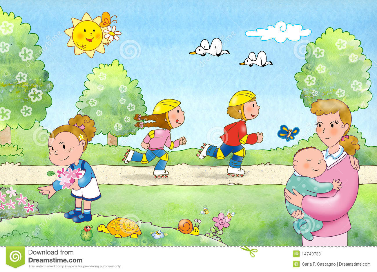 Family in the park clipart 6 » Clipart Station.