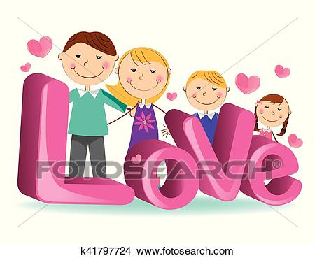 Family love 4 Clipart.