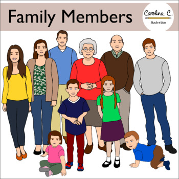 Family Members Clip Art.